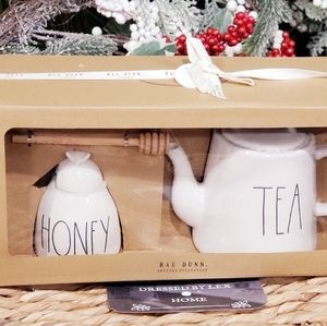 NWT HTF Rae Dunn HONEY Tea Pot Set